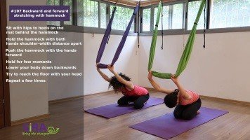Backward and forward stretching with hammock – exercise #107