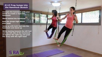 Frog Jumps into the Hammock Stretch – exercise #113