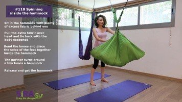 Spinning inside the hammock – exercise #118