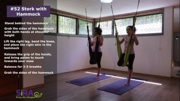 Stork with Hammock – exercise #52