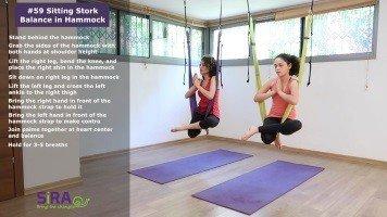 Sitting Stork Balance in Hammock – exercise #59