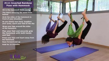 Inverted Rainbow Pose with Hammock – exercise #111
