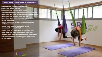 Baby Cradle Pose in Hammock – exercise #155