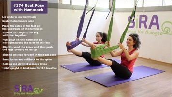 Boat Pose with Hammock – exercise #174