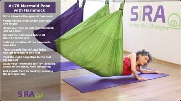 Mermaid Pose with Hammock – exercise #178